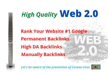 I will Create Manually 30 High authority web 2.0 backlinks for top SEO in Google Ranking