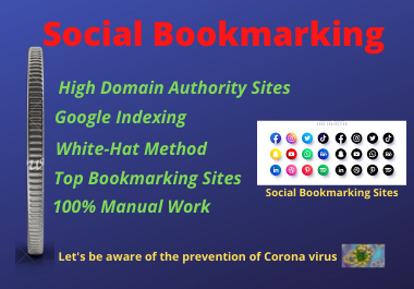 I will manually create 40 social bookmarking backlinks to increase the top rank of the website