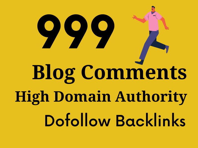 I will manually create 999 do-follow blog comments back-links