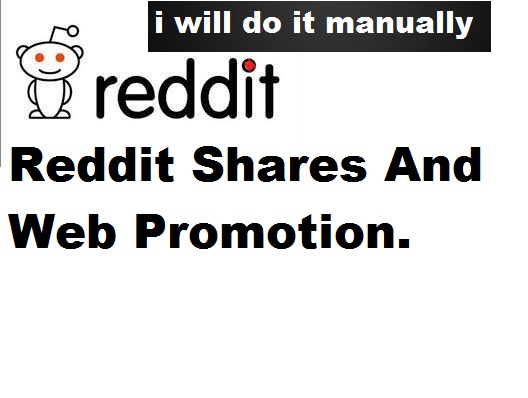 5 Reddit shares and web promotion