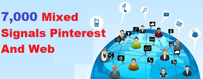 7,000 mixed signals of pinterest and another platform to rank up your web