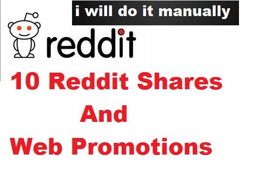 10 Reddit shares and web promotion