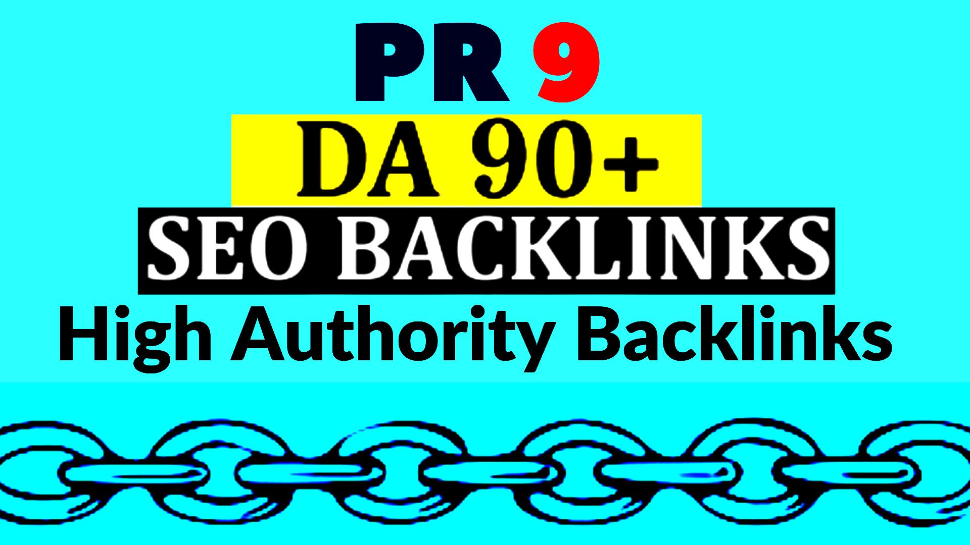40 High Quality PR 9 Da 90 High Authority Profile Backlinks