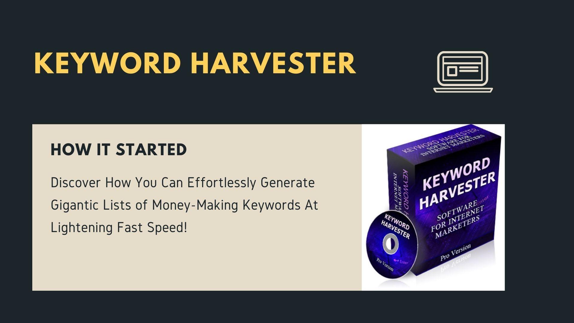 Keyword Harvester Software for Internet Marketers
