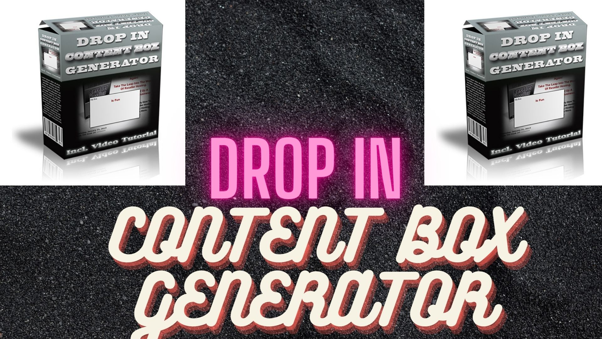 Drop In Content Box Generator with Video
