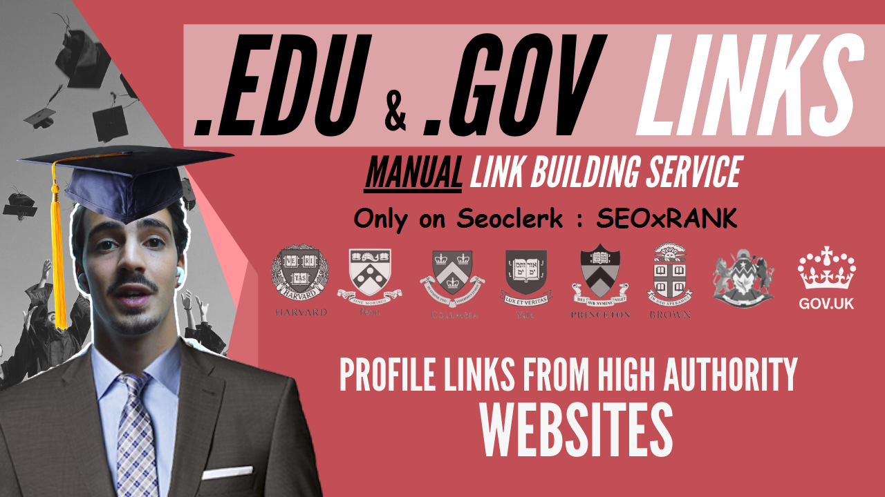 Create 20+ EDU-GOV Safe SEO Backlinks Authority Site to Boost Your Google Ranking 2021