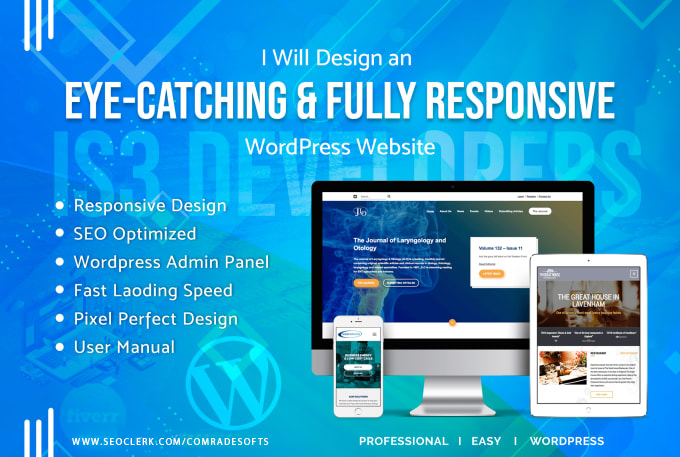 Our Team will design and develop your wordpress website