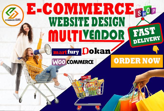 We will design multi vendor ecommerce wordpress website in 24 hours