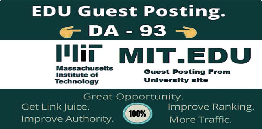 I will write and publish Dofollow Edu Guest Post mit. edu With DA 93 Permanent Link