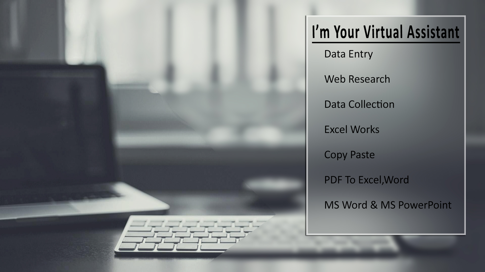 I Will Be Your Data Entry / Virtual Assistant