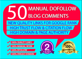 I will provide 50 backlinks unique domain Dofollow blog comments