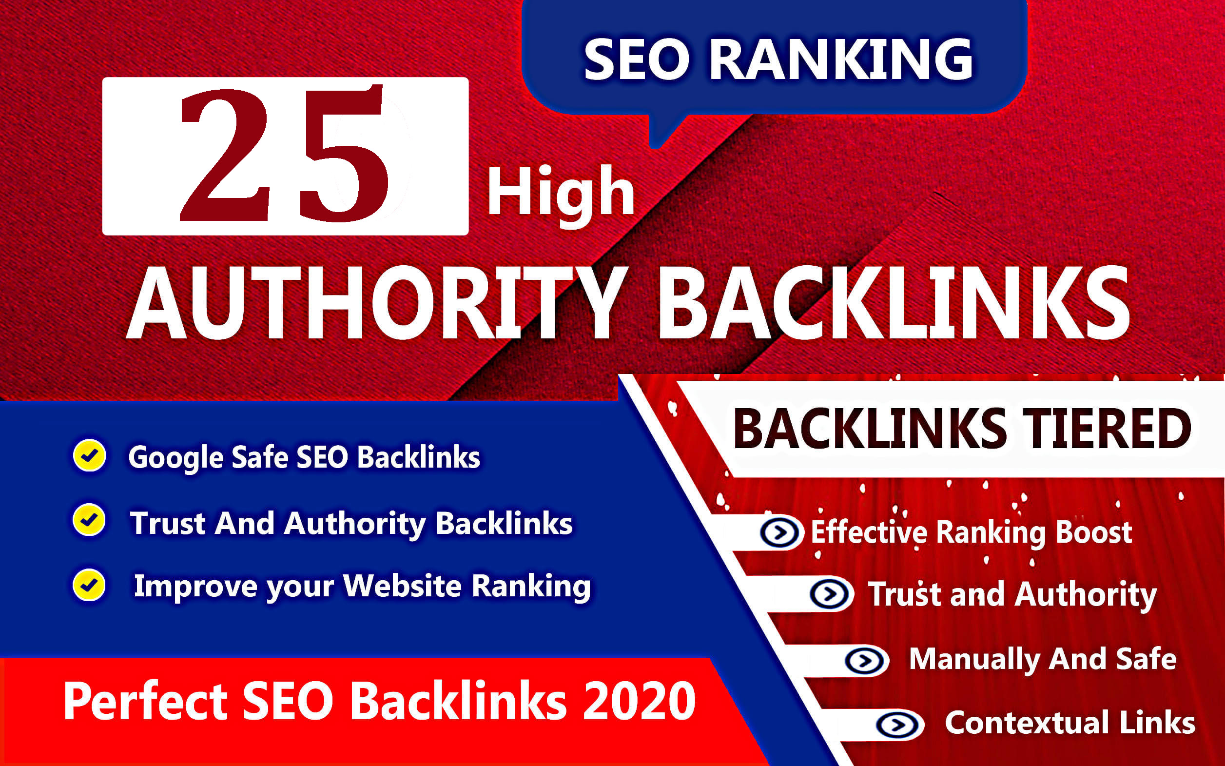 I will create 25 manual authority web 2.0 backlinks