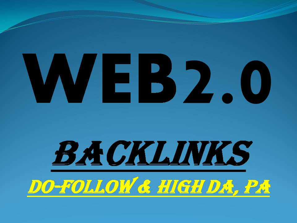 I will create 30 manual authority web 2.0 backlinks
