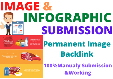 I will submit 20 image or infographics to high DA authority sites and low spam score permanent backl