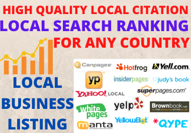 High-Quality Manual 70 Local Citation For Any Country and Directory Submission for Business Ranking