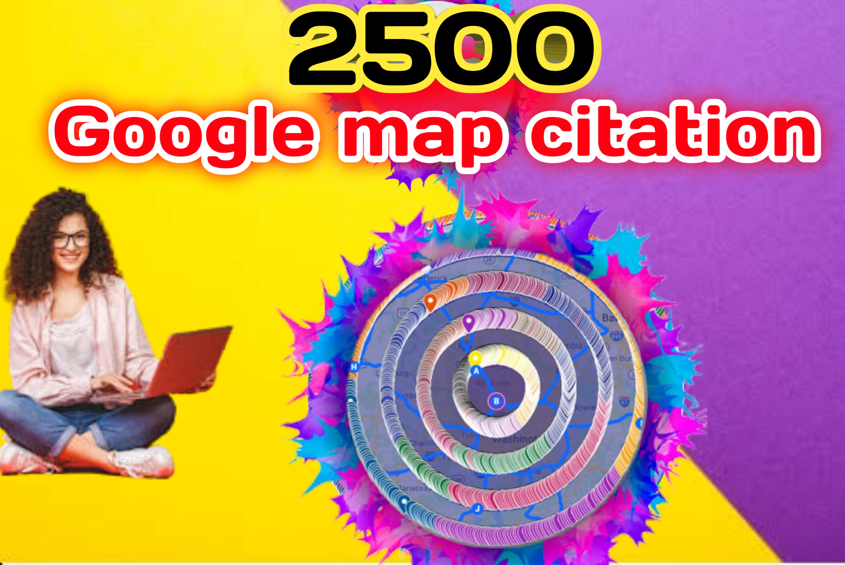 I will do 2500 google map citation for your business