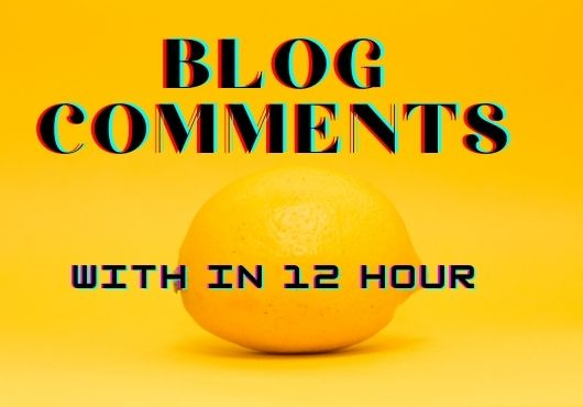 I will do build manually 50 high quality blog comments for google top backlinks