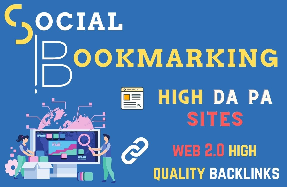 I will do 30 plus social bookmarking on high DA PA sites manually