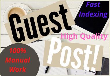 Write and Publish 10 Guest Post High DA Unique content dofollow permanent contextual backlinks