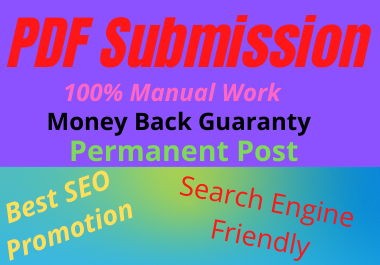 Manual 20 PDF Submission High Authority low spam score website permanent dofollow backlinks
