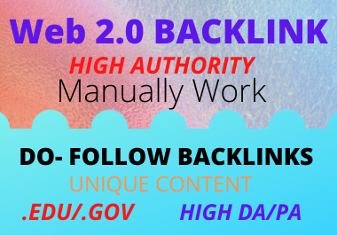 I will Create 20 Web2.0 High DA Do-follow Backlinks for Super-Fast Indexing & Ranking Website Positi
