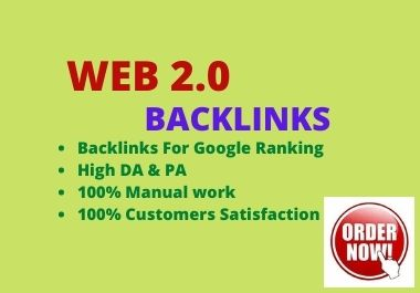 I will do authority 300 web 2.0 backlinks