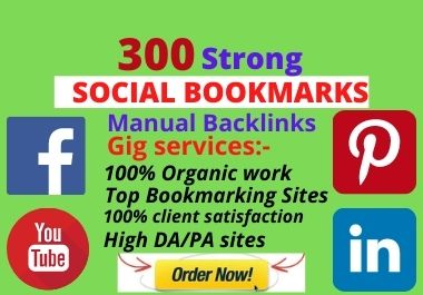 I will do 300 do-follow social bookmarking backlinks service
