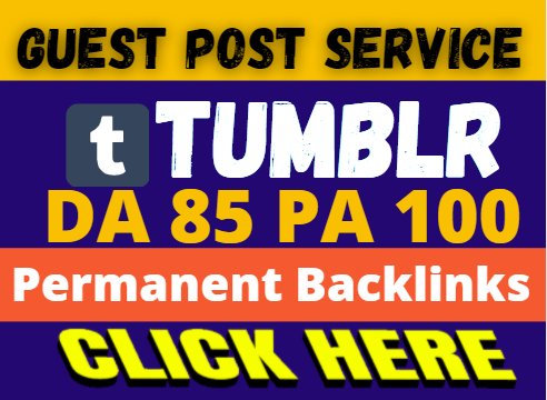 Write and Publish a Guest Post on Tumblr DA85 PA100