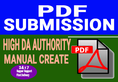 30 Manual PDF or Document Submission On Top Pdf sharing sites for google ranking