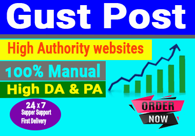 I will Published 8 Guest post on High DA site permanent backlink and rank your website