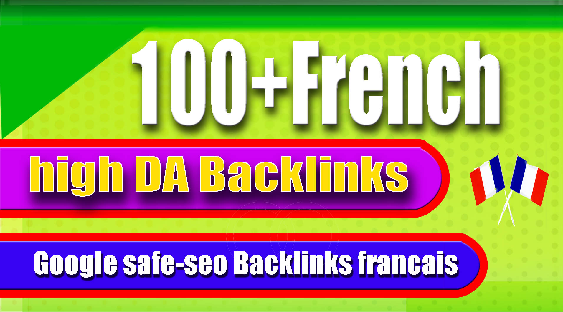 I will create 100+ france local high da seo backlinks