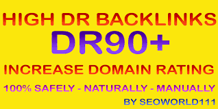 I will build DR 90 to 99 high quality dofollow backlinks for off page seo authority site