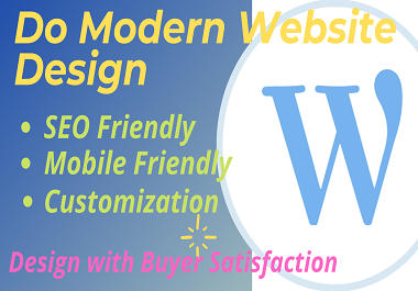I will design a 3 pages gorgeous WordPress website or landing page using elementor