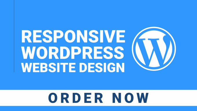 I will do responsive WordPress website design or landing page design