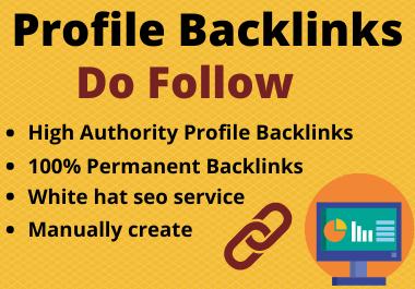 I will create 20 do follow Profile Backlinks