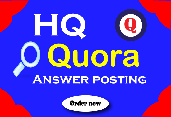 I will Provide 20 HQ quora answers with Backlinks