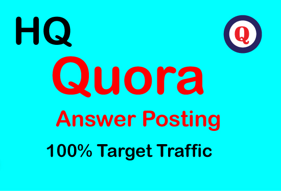 Guaranteed Promote your website 5 high quality Quora answer backlinks