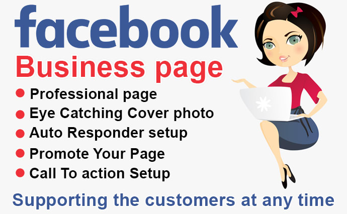 I will create and design facebook business page - Gold Facebook Business page