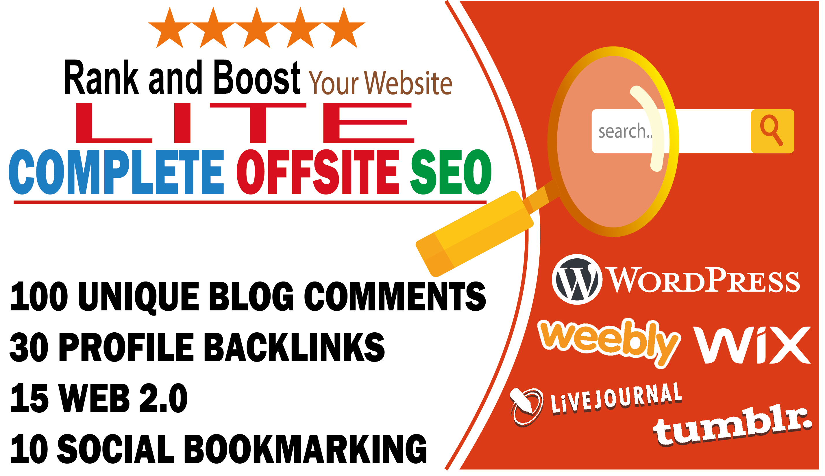 Complete seo lite to rank your business backlinks