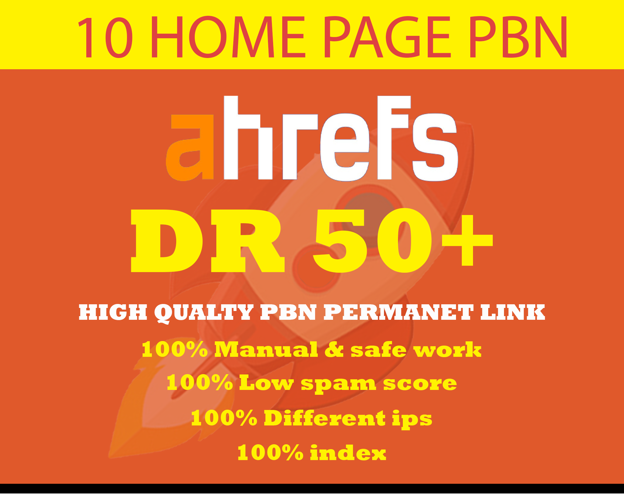 i will Create 10 PBN DR50plus Dofollow HOMEPAGE PERMANET PBN Backlinks