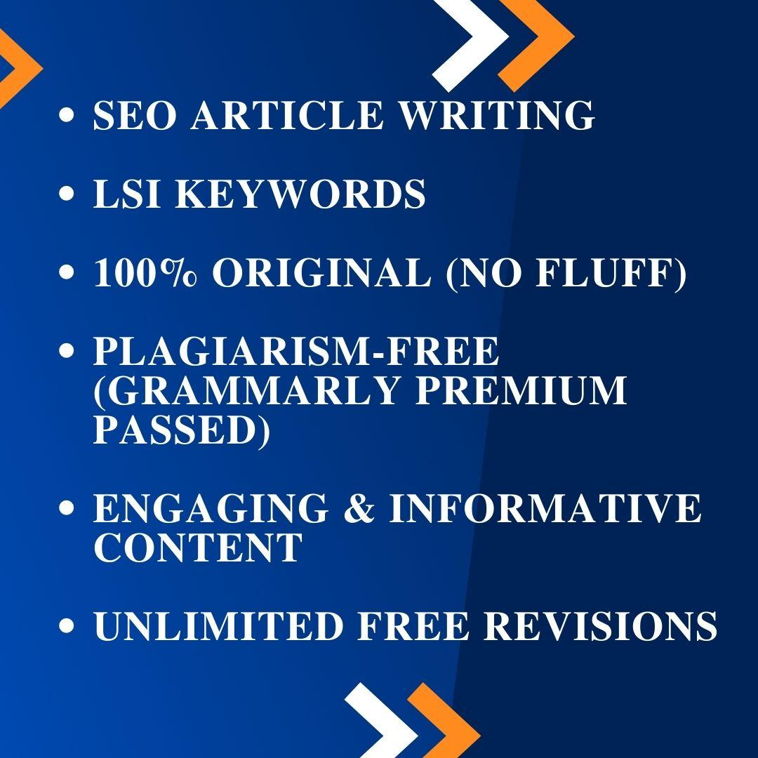 Original & Comprehensive SEO-Articles and Blog Posts