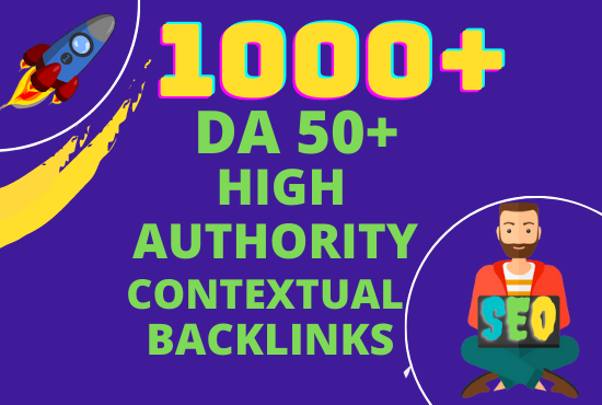 I will create 1000 white hat high authority contextual seo backlinks