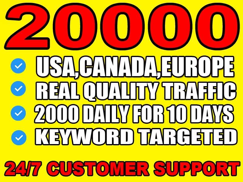 I will drive usa, canada, europe website traffic with low bounce rate