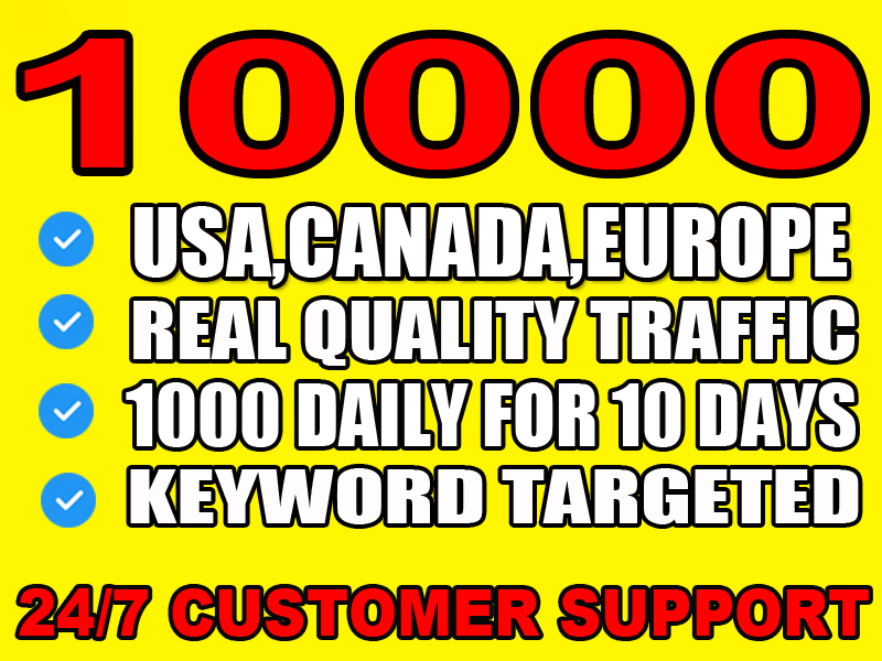 I will send real website targeted traffic from usa, canada and europe