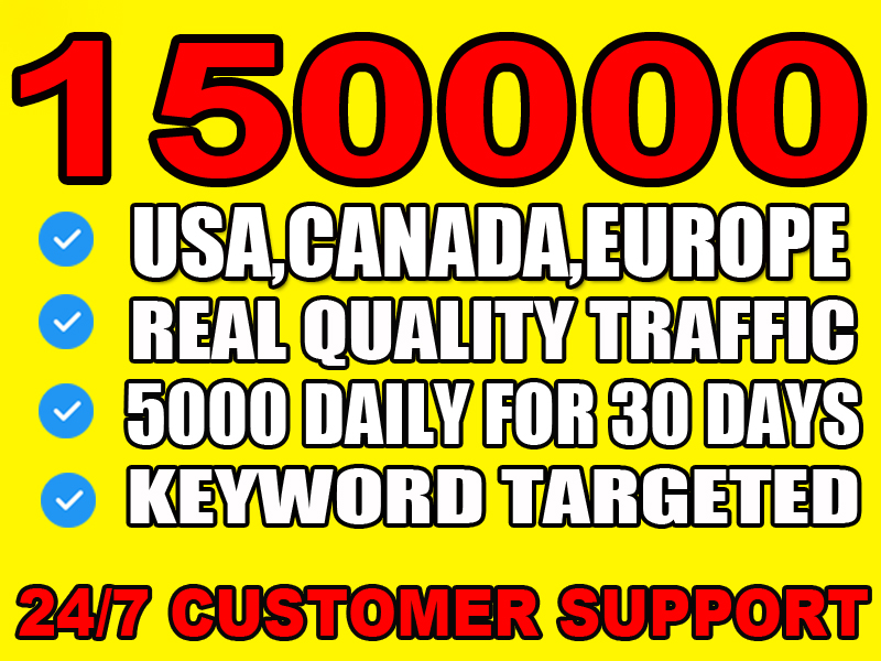 I will drive USA, CANADA, EUROPE web traffic for 30days