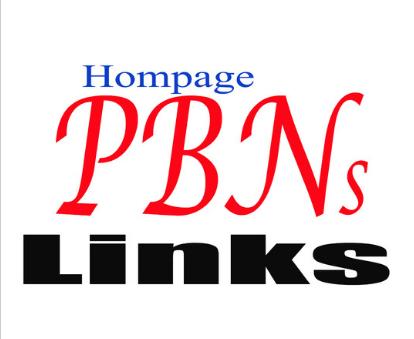 Build 100 High Pa Da Tf Cf Pbn Backlinks,  Homepage Quality Links