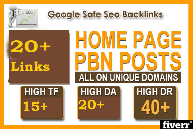 Make 20 high tf da pa dr homepage PBN permanent SEO backlinks