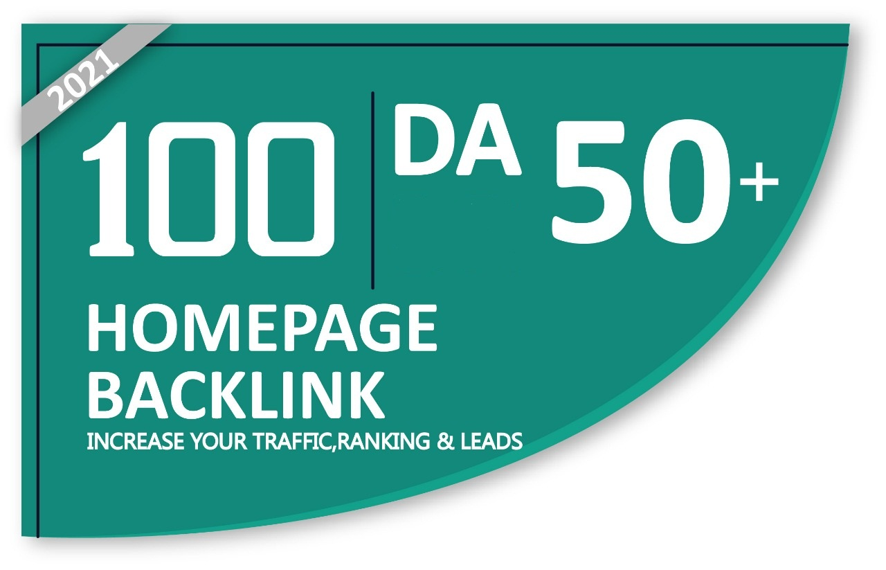 Homepage 100 backlinks DA 50+ Available In Very Cheap Price.