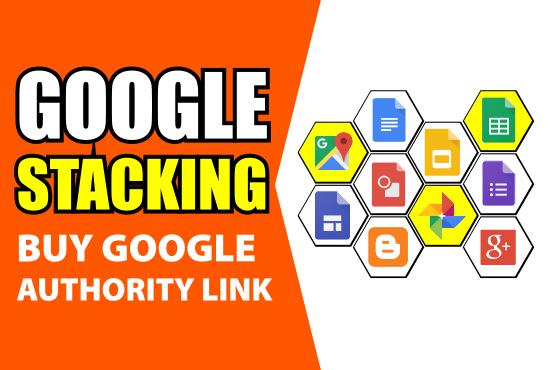 I will create google advanced SEO stacking