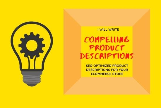 I will write compelling product description for e commerce store